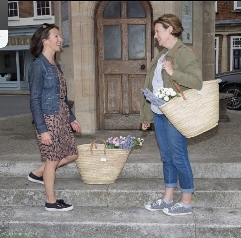 Nat and Sarah with Darcy and Emma Baskets