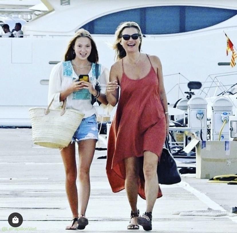Kate Moss and Daughter bag a basket (Olivia)