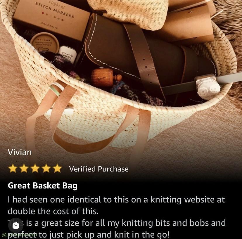 Amazon 5* Review for Knitting Basket (Sasha)