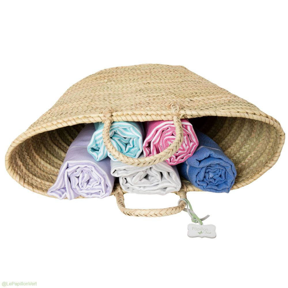 Hammam Towels in a basket